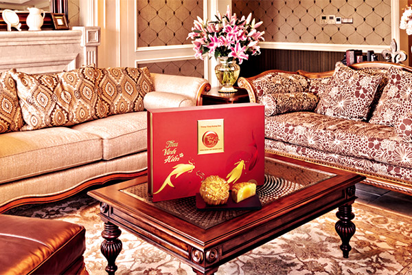 Bánh trung thu trăng vàng hoàng kim vinh hiển đỏ Kinh Đô
