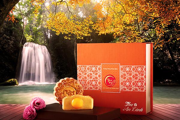 Bánh trung thu trăng vàng hồng ngọc an lành cam Kinh Đô