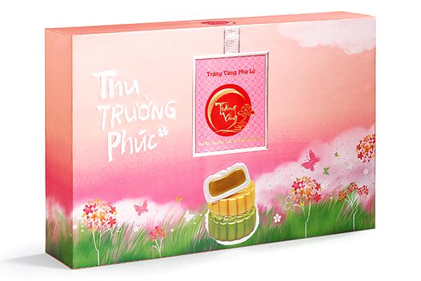 Bánh trung thu trăng vàng pha lê trường phúc hồng Kinh Đô