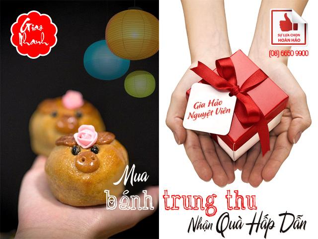 Hình ảnh mua bánh Trung thu nhận quà hấp dẫn